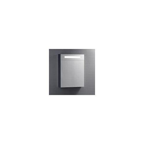 Kronenbach Plana Spiegelschrank 60 x 14 x 75,5 cm, mit 1 Tür und satiniertem Lichtausschnitt oben Plana B: 60 T: 14 H: 75,5 cm