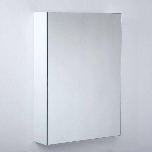 Kronenbach Plana 2.0 Spiegelschrank 50 cm, mit 1 Tür und LED-Aufsatzleuchte, Anschlag rechts Plana 2.0 B: 50 T: 14 H: 70 cm verspiegelt
