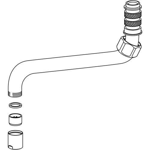 KWC Auslauf 30 cm für Gastro-Armaturen Gastro passend zu Art. Z.503.683.000  K.33.42.54.000