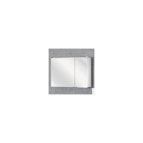 Lanzet Spiegelschrank 90 cm mit LED-Aufbauleuchte L5   verspiegelt 7474512