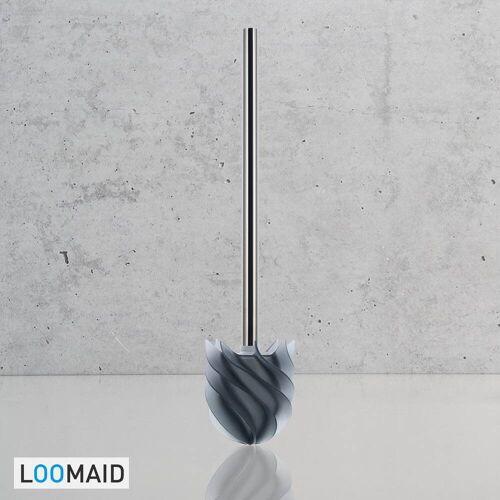 LOOMAID Silikon-WC-Bürste mit Lotuseffekt WC-Bürsten B: 7,8 T: 7,8 H: 35 cm grau 10203078