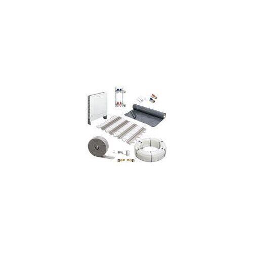 Megabad Profi Collection Fußbodenheizung Trockenbausystem Komplettset für eine Fläche bis 30 m² Fußbodenheizung Trockenbausystem Komplettsystem für 2 Heizkreise