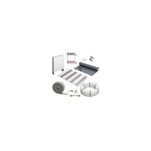 Megabad Profi Collection Fußbodenheizung Trockenbausystem Komplettset für eine Fläche bis 50 m² Fußbodenheizung Trockenbausystem Komplettsystem für 4-Heizkreise