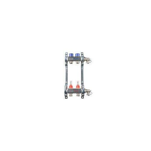 Megabad Profi Collection Fußbodenheizung-Heizkreisverteiler für 2 Heizkreise Fußbodenheizung B: 20 H: 36 cm für 2 Heizkreise MBHKV2