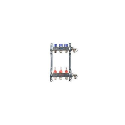 Megabad Profi Collection Fußbodenheizung-Heizkreisverteiler für 3 Heizkreise Fußbodenheizung B: 25 H: 36 cm für 3 Heizkreise MBHKV3