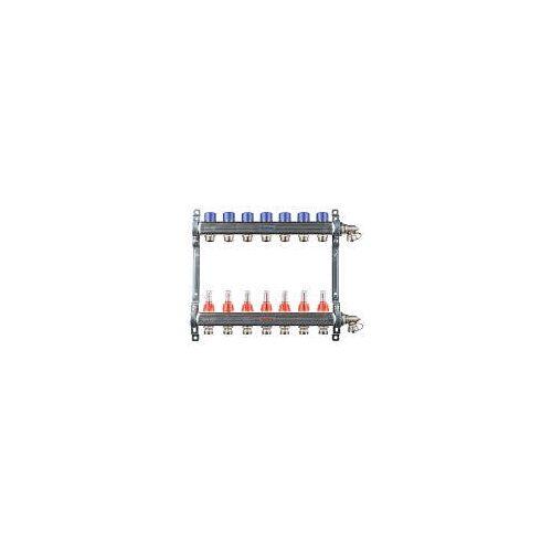 Megabad Profi Collection Fußbodenheizung-Heizkreisverteiler für 7 Heizkreise Fußbodenheizung B: 45 H: 36 cm für 7 Heizkreise MBHKV7
