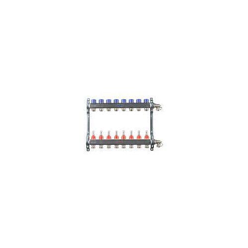 Megabad Profi Collection Fußbodenheizung-Heizkreisverteiler für 8 Heizkreise Fußbodenheizung B: 50 H: 36 cm für 8 Heizkreise MBHKV8