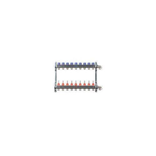 Megabad Profi Collection Fußbodenheizung-Heizkreisverteiler für 9 Heizkreise Fußbodenheizung B: 55 H: 36 cm für 9 Heizkreise MBHKV9