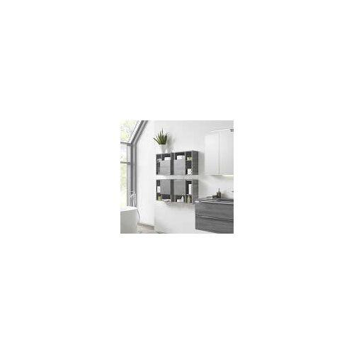Pelipal Wandregal 1 Tür unten rechts, 3 Fächer 45 x 20 x 45 cm   stahlgrau EM-WRT02-R-88