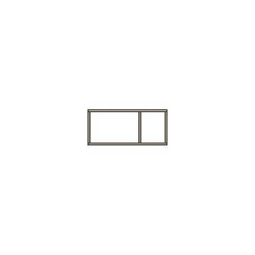 Pelipal Wandregal 2 Fächer 45 x 17 x 20 cm neutrale Einzelmöbel B: 45 T: 17 H: 20 cm schneeweiß glanz EM-WR20-03-45-17-68