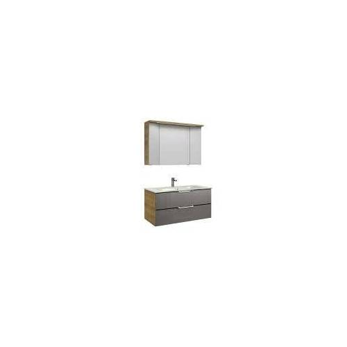 Pelipal Trentino Möbelkombination mit Glaswaschtisch 107 cm, SPS 3D Trentino  grau (glas) 12_1070_3_2_1_47
