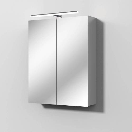 Sanipa Solo One Alu-Spiegelschrank 60 x 78,2 cm Solo One B: 60 T: 21 H: 78,2 cm aluminium PS9006L
