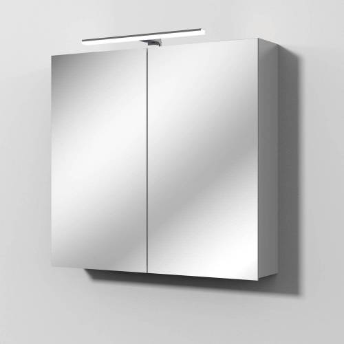 Sanipa Solo One Alu-Spiegelschrank 80 x 78,2 cm Solo One B: 80 T: 21 H: 78,2 cm aluminium PS9026L