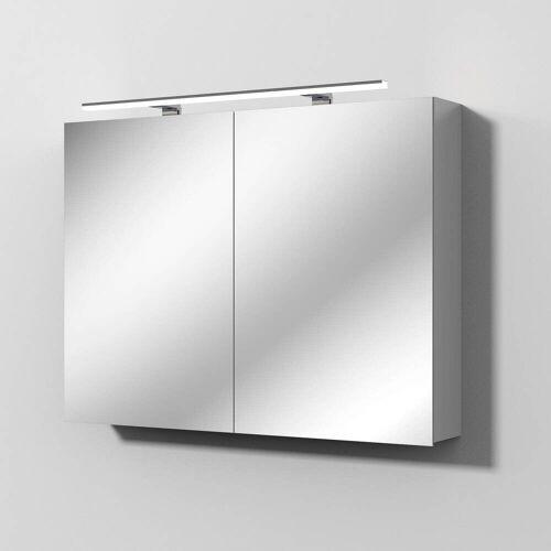 Sanipa Solo One Alu-Spiegelschrank 100 x 78,2 cm Solo One B: 100 T: 21 H: 78,2 cm aluminium PS9046L