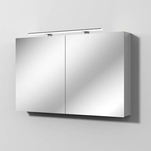 Sanipa Solo One Alu-Spiegelschrank 120 x 78,2 cm Solo One B: 120 T: 21 H: 78,2 cm aluminium PS9066L