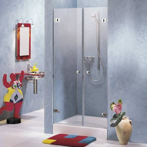 Sprinz Beryll Doppeltüren für Nische bis 120 x 200 cm Beryll B: 120 H: 200 cm chrom 122.1-CH