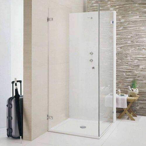 Sprinz Beryll Drehtür mit Seitenwand bis 90 x 90 x 200 cm Beryll B: 90 T: 90 H: 200 cm chrom 113.9-CH