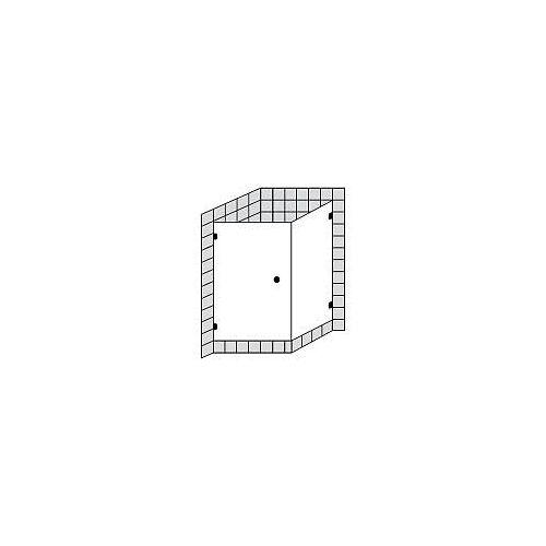 Sprinz BS-Dusche Tür mit Seitenwand bis 90 x 90 x 200 cm BS-Dusche B: 90 T: 90 H: 200 cm chrom BS13.9-CH