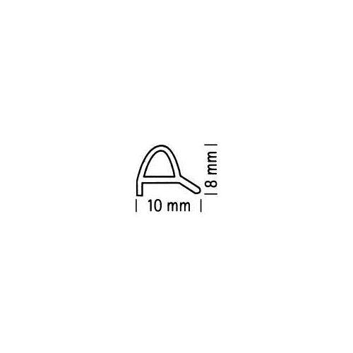 Sprinz Schwallprofil gebogen Opalin S 10 x 8 mm Schwallprofil gebogen,Radius 482 18-105C
