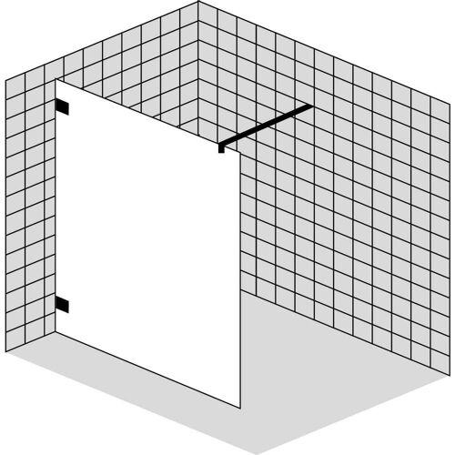 Sprinz Inloop Walk-In Dusche, Beschläge rund, Breite bis 90 cm Inloop B: 90 H: 210 cm chrom IR31.9-CH