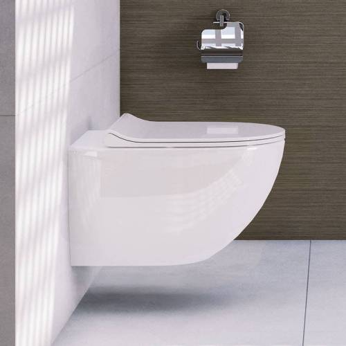 VitrA Sento Wand-WC Tiefspüler mit Spülrand, mit Bidetfunktion Sento B: 36,5 T: 54 cm weiß 4448B003-0559