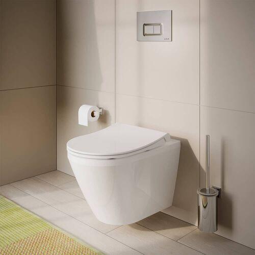 VitrA Integra Wand-WC Tiefspüler mit Spülrand, mit Bidetfunktion Integra B: 35,5 T: 54 cm weiß 7060L003-0090