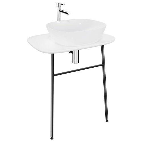 VitrA Plural Waschtischunterbau hoch Plural B: 68,5 T: 49 H: 74 cm weiß hochglanz 62565