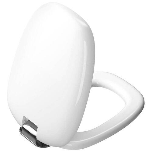 VitrA Plural WC-Sitz Plural B: 36,4 T: 47,6 H: 5 cm weiß hochglanz / chrom 126-003-009