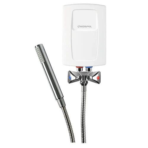 Kospel Durchlauferhitzer 4,4 kW mit Niederdruckarmatur und Duschset Durchlauferhitzer B: 13,5 H: 19,5 cm weiß EPS2-4,4.P.DE