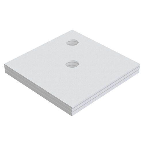 Schedel Plan Unterbauelement 120 x 120 cm bodeneben, 3er Set Plan B: 120 T: 120 cm 3-teilig, für Plan Duschelemente bodeneben SA 32230