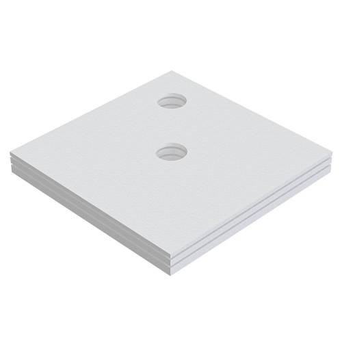 Schedel Plan Unterbauelement 140 x 140 cm bodeneben, 3er Set Plan B: 140 T: 140 cm 3-teilig, für Plan Duschelemente bodeneben SA 32233