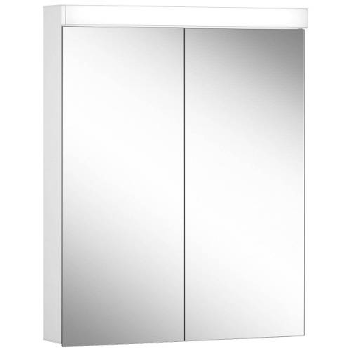 Schneider Low Line Basic LED 4000 K Spiegelschrank LOB 60/2, 60 x 74,8 cm Low Line Basic LED B: 60 H: 74,8 T: 13,5 cm weiß 171.261.02.02
