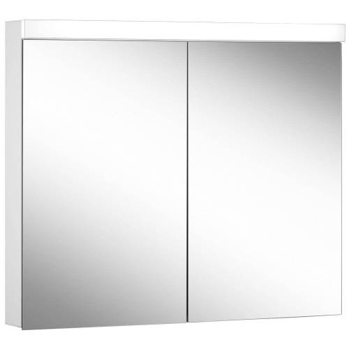 Schneider Low Line Basic LED 4000 K Spiegelschrank LOB 90/2, 90 x 74,8 cm Low Line Basic LED B: 90 H: 74,8 T: 13,5 cm weiß 171.290.02.02
