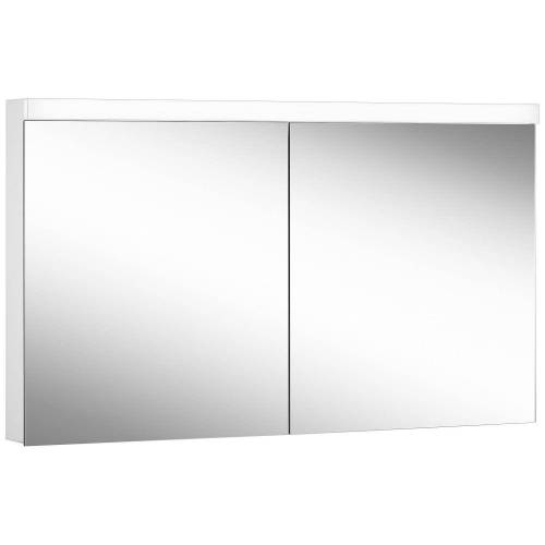 Schneider Low Line Basic LED 4000 K Spiegelschrank LOB 130/2, 130 x 74,8 cm Low Line Basic LED B: 130 H: 74,8 T: 13,5 cm weiß 171.330.02.02