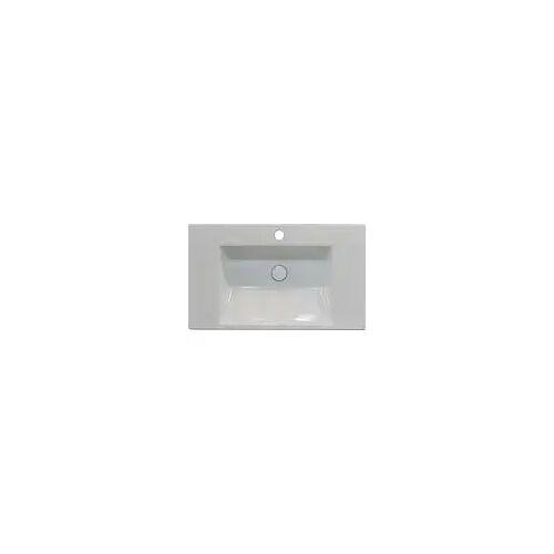 Bette BetteAQUA Einbauwaschtisch 80 x 49,5 cm mit Hahnloch BetteAqua B: 80 T: 49,5 H: 8 cm weiß A048-000HLW1
