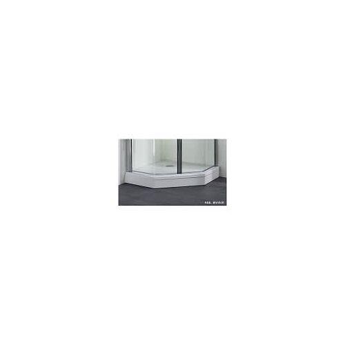 Megabad Profi Collection Architekt 100 Schürze für Duschwanne 90 x 80 oder 80 x 90 cm superflach für Duschwanne links und rechts 90 x 80 / 80 x 90 cm weiß 50500904