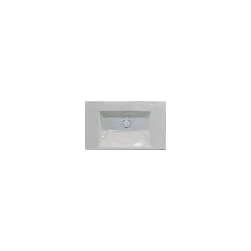 Bette BetteAQUA Einbauwaschtisch 80 x 49,5 cm ohne Hahnloch BetteAqua B: 80 T: 49,5 H: 8 cm weiß A048-000