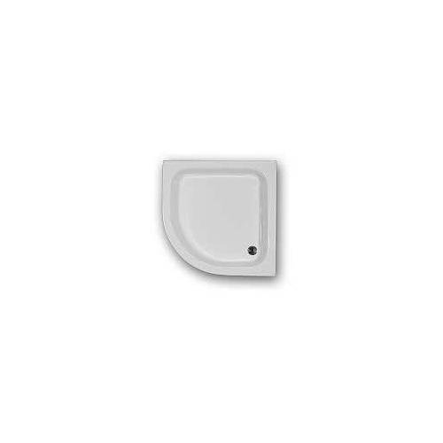 Caribia Eckdusche 80x15, Radius 50, 80 x 80 cm Eckdusche 80 x 80 x 15 cm weiß Eckdusche 80x80x15 inkl. Fussgestell