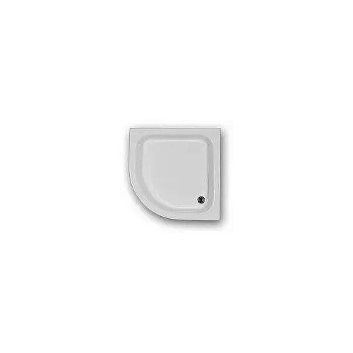 Caribia Eckdusche 90x15, Radius 50, 90 x 90 cm Eckdusche 90 x 90 x 15 cm weiß Eckdusche 90x90x15 inkl. Fussgestell