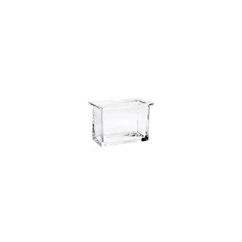 Emco vara Glasbehälter für Seifenspender oder Utensilienbox vara Ersatzbehälter aus Kristallglas klar  421900090