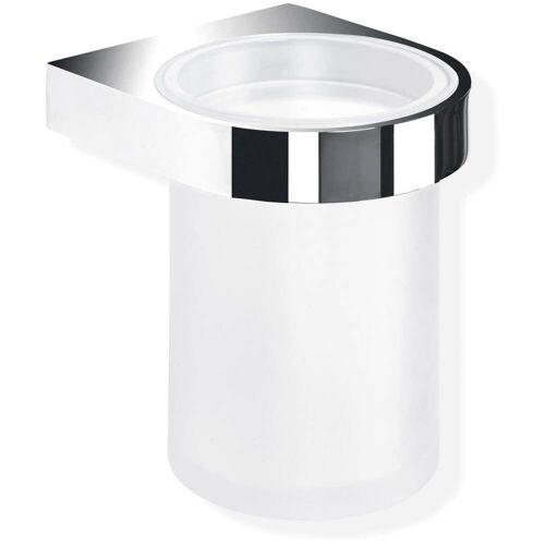 HEWI System 800 Becher aus Kristallglas mit Halter System 800 B: 8,1 T: 9,2 H: 11 cm chrom 800.04.11045