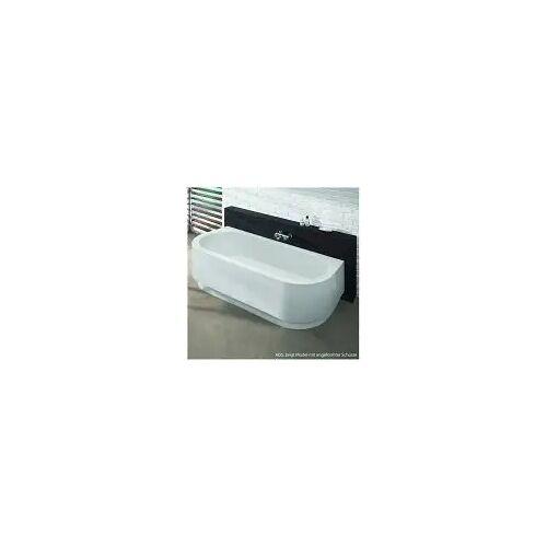 Hoesch Happy D. Halbrund-Badewanne 180 x 80 cm Happy D. L: 180 B: 80 H: 45 cm ohne Schürze 6180.010