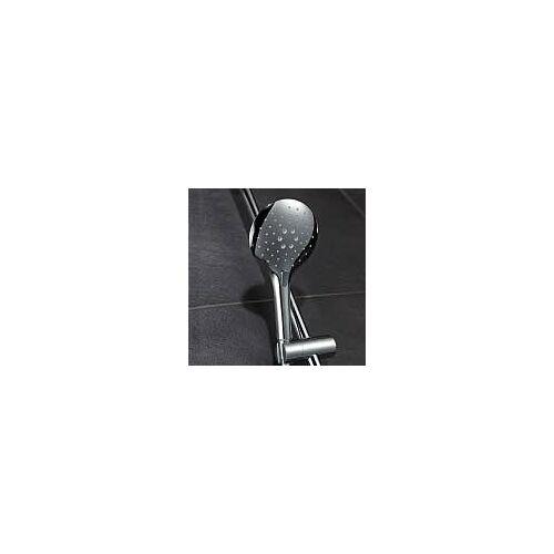 HSK Design-Handbrause AquaSwitch rund, mit Brauseschlauch Universal chrom mit 3 Strahlarten, mit Brauseschlauch 150 cm 1100069