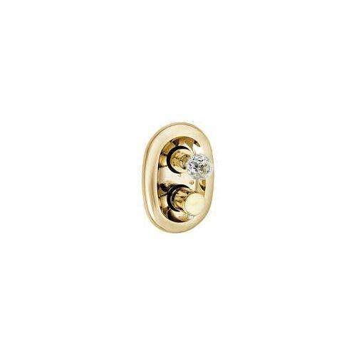 Kludi Adlon UP-Thermostatarmatur mit Kristallgriff  mit Absperrventil vergoldet 23 kt 5172045G4