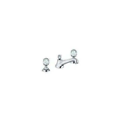 Kludi Adlon Waschtisch-3-Locharmatur mit Kristallgriffe Adlon mit Ablaufgarnitur chrom 5104605G5