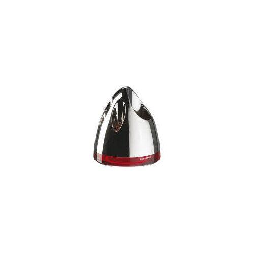 Koh-I-Noor Zahnbürstenhalter POP CROMO / rot  Ø: 11,3 H: 13 cm chrom/rot 5631KR
