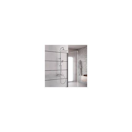 Kronenbach Duschsystem 2.0 rund mit Thermostat und Kopfbrause 30 cm Duschsysteme 2.0 H: 78,5 - 126,5 cm chrom 27114000KBN