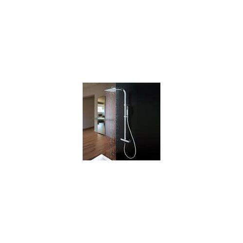 Kronenbach Duschsystem eckig, mit Thermostat und Kopfbrause Duschsysteme H: 110,3 cm chrom 23147001KB
