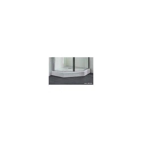 Megabad Profi Collection Architekt 100 Schürze für Acryl Duschwanne halbrund super-flach 96 x 82 cm für Duschwanne halbrund B: 96 T: 82 cm weiß 53500104