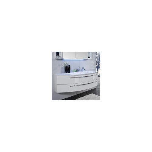Puris Crescendo Waschtischunterschrank 140 x 47 x 48 cm, für Waschtisch mit Ablage links Crescendo B: 140 T: 47 H: 48 cm polarweiß hochglanz